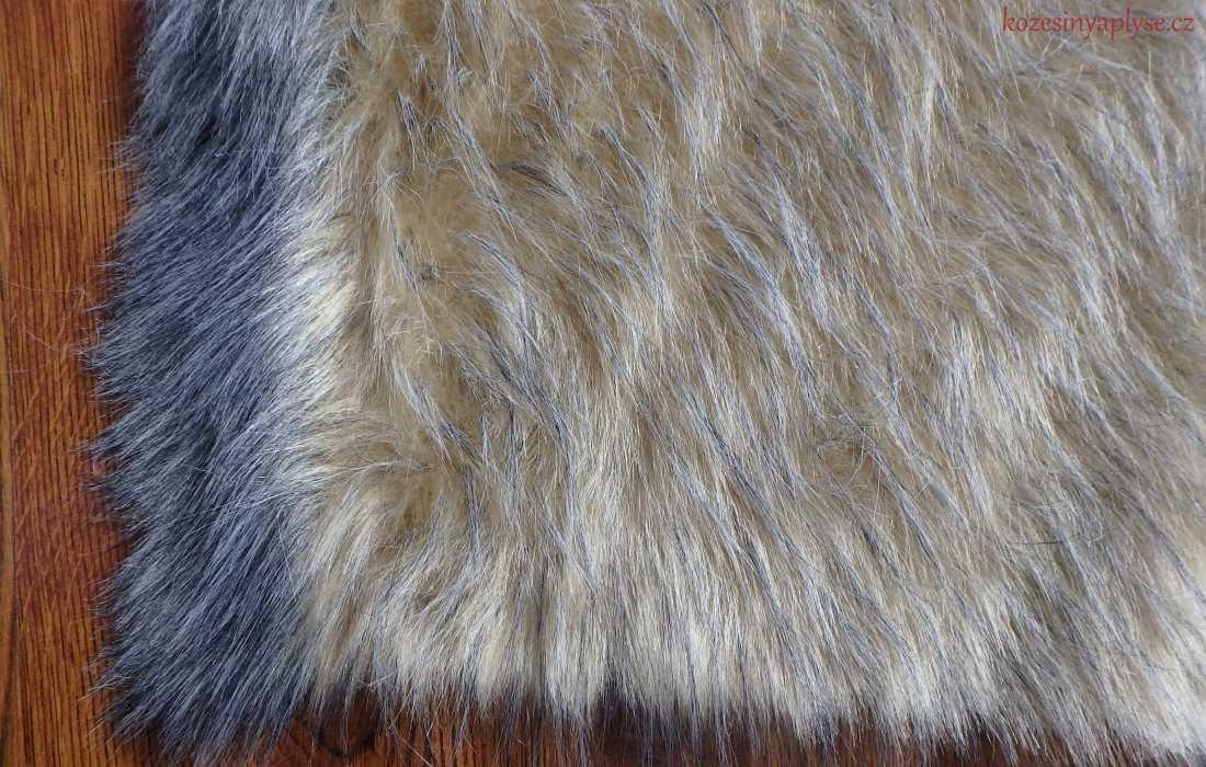 Umělá kožešina béžovo šedá vlas 60 mm 7a7b94b12e