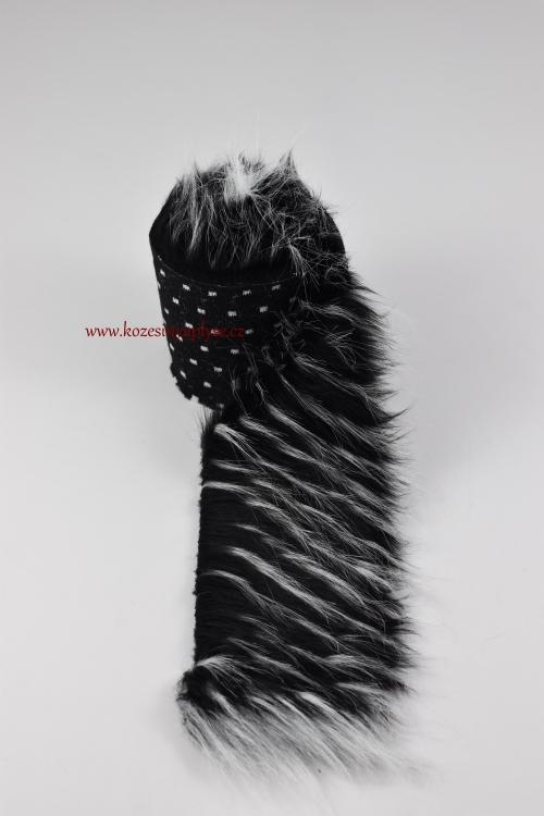Třášně - černá s bílou vlas 60 mm empty 928c22f388