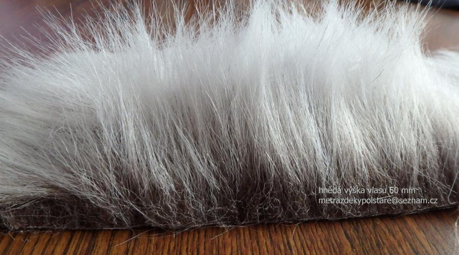 Umela kozesina dlouhy vlas